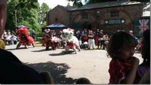 Chinese Lion Dance throughly enjoyed by Families having Fun 25th Annual Gala Day BP