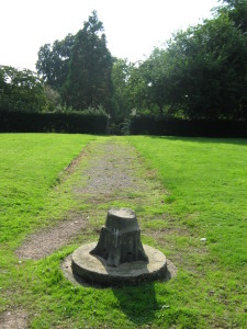 Central Walled Garden Path with Former Sundial