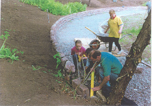 Volunteers working in the Historic Gardens
